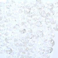 Бисер gamma 2,5х5мм (т102 прозрачный/белый)