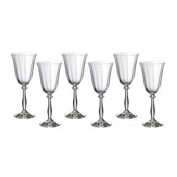 Набор бокалов для вина из 6 шт. анжела оптик 250 мл высота=21 см (кор=8наб