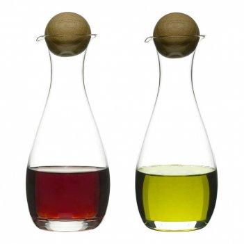 Sagaform набор ёмкостей для масла и уксуса nature