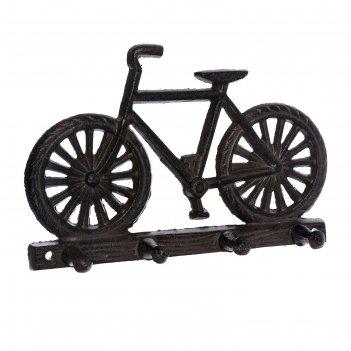 Вешалка «велосипед», 30 x 20 x 13,5 см, чугун