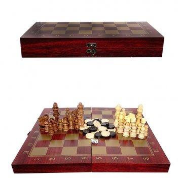 Набор настольных игр 3 в 1 (шахматы, шашки, нарды), l34 w17 ...
