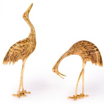 Статуэтка из бронзы страус пара
