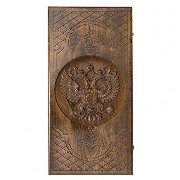 Нарды резные герб рф-2, ustyan, 62х64см