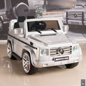 Dmd-g55 электромобиль mercedes-benz amg new version 12v r/c silver с резин