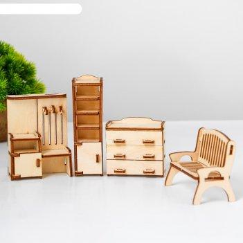 Набор мебели для кукол прихожая