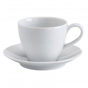 Чашка кофейная с блюдцем вэрдера, 200 мл, белый