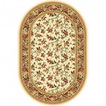 Овальный ковёр olympos d387, 300 х 500 см, цвет cream