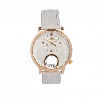 Часы наручные женские сердечко, циферблат d=3 см, белые