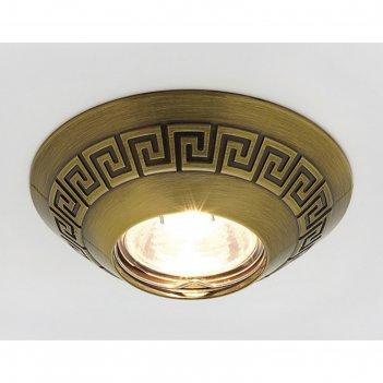 Светильник встраиваемый, mr16, gu5.3, цвет бронза, d=65 мм