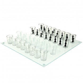 Игра пьяные шахматы: 32 рюмки, 35х35 см