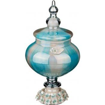 Декоративная чаша с крышкой высота=33 см.