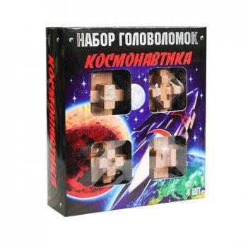 """Головоломка деревянная """"космонавтика"""" 4 шт"""