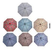 Зонт механический ветроустойчивый квадраты, микс