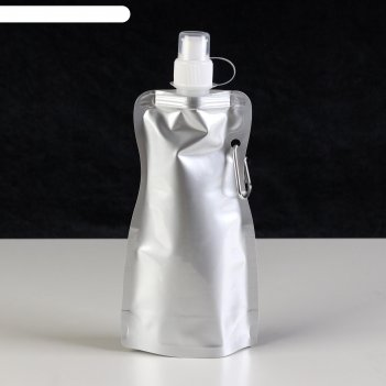 Фляжка мягкая с карабином классика, 450 мл, 10х26.6 см