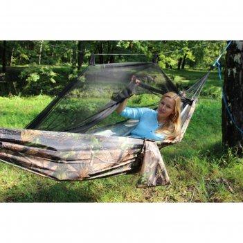 Гамак с москитной сеткой камуфляж лес с карманом под пенку rg-16