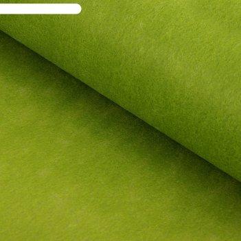 Фетр однотонный оливковый, 50 см x 20 м