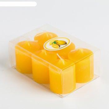 Свеча столбик 5 см, цвет жёлтый