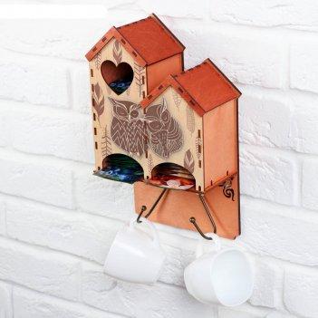 Чайный домик настенный совушки 17,3х30,3 см