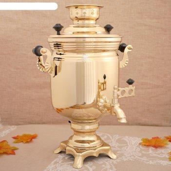 Самовар «золото», банка, 3 л, электрический