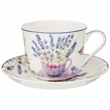 Чайный набор на 1 персону прованс лаванда 2пр. 500 мл (кор=18наб.)