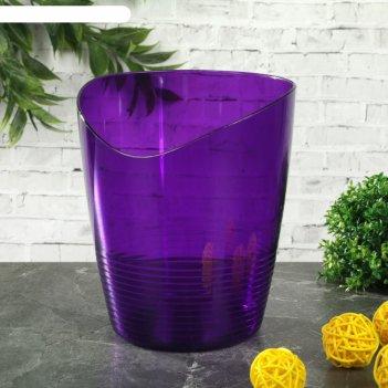 Кашпо для орхидей 0,8 л mia, цвет баклажан