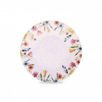 Тарелка глубокая «акварель», диаметр: 20 см, материал: фаянс, декор, серия