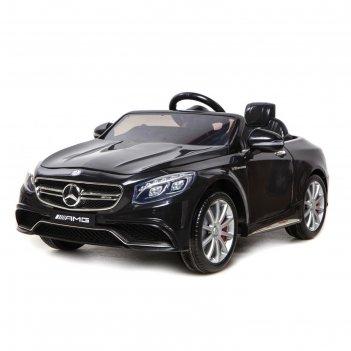 Электромобиль mercedes-benz s63 amg, цвет чёрный, eva колёса, кожаное сиде