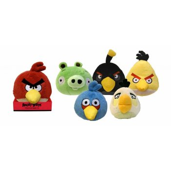 90799, мягкая игрушка angry birds, со звуком, 20 см