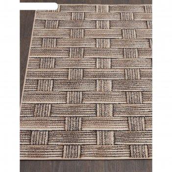 Прямоугольный ковёр sierra d721, 200x300 см, цвет beige-brown