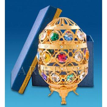 Ar-1021/ 1 фигурка яйцо бол. с цв.кр. в подарочной коробке (юнион)
