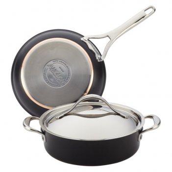 Набор кухонной посуды anolon нувель купер люкс, 3 предмета
