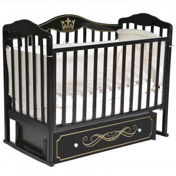Кроватка «кедр» helen-6, универсальный маятник, ящик, цвет шоколад