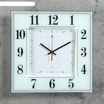 Часы настенные, серия: классика, белая классика, 36х36 см  микс