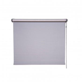 Рулонная штора «блэкаут», 220х160 см, цвет стальной