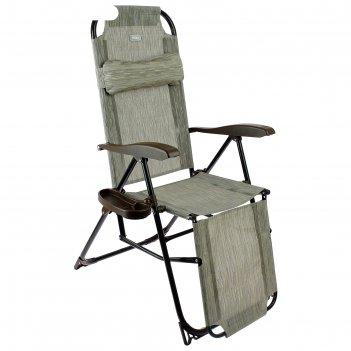 Кресло-шезлонг, кш3/4, 82 x 59 x 116 см, бамбук, с подножкой и полкой под