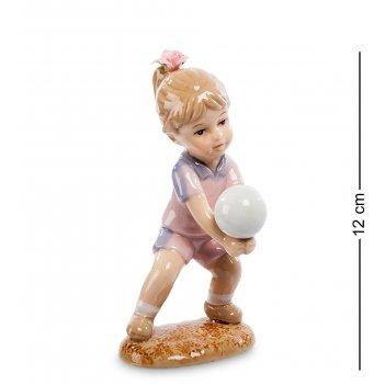 Cms-12/31 статуэтка девочка игра в волейбол (pavone)
