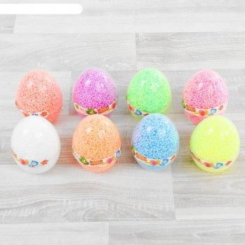 Шариковый пластилин фиксики с блёстками разных цветов в яйце, 8 г
