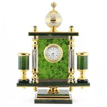 Часы держава камень нефрит