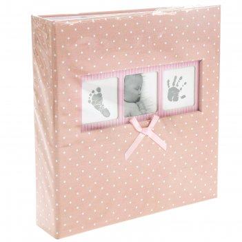 Фотоальбом на 200 фото 10х15 см innova, baby polka dot pink memo