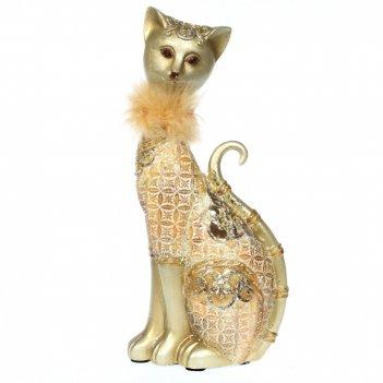 Фигурка декоративная кошка, l12,5 w7 h27,5 см