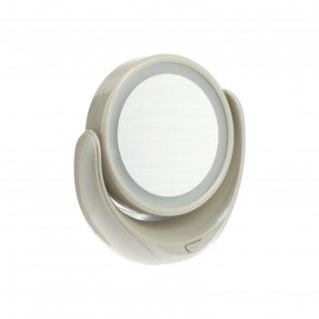 Зеркало косметическое marta mt-2653, 20 вт, цвет молочный жемчуг