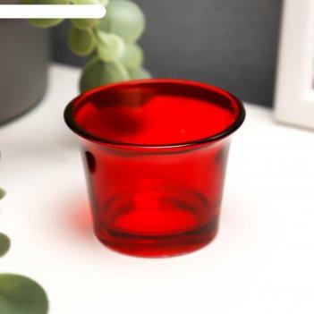 Подсвечник глянец, цвет красный