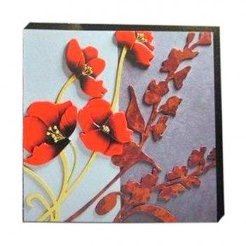 Панно цветы, 70х70 см