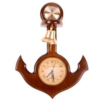 Метеостанция/часы якорь с колоколом