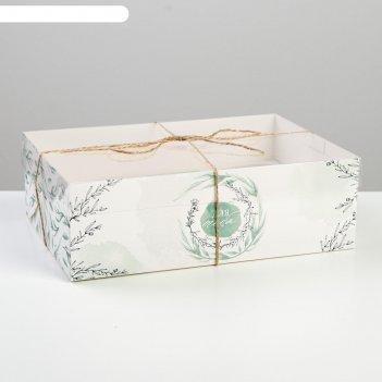 Коробка для капкейка «для тебя», 23 x 16 x 7.5 см