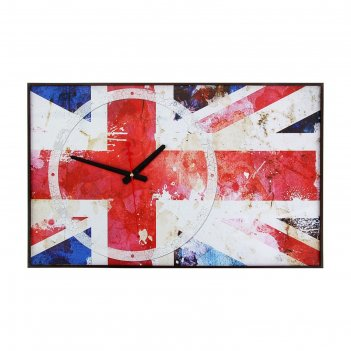 Часы настенные, серия: символ, британский флаг, 37х60  см, микс