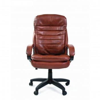 Офисное кресло chairman 795 lt, экокожа, коричневый