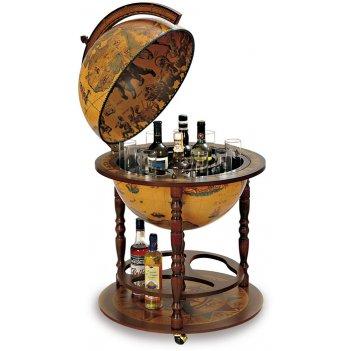 88 глобус-бар с подставкой для бутылок, диам.50см, 60х91h