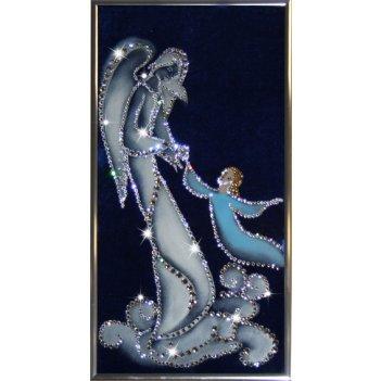 Картина сваровски - ангел-хранитель
