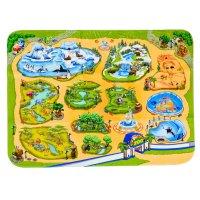 Детский ультрамягкий игровой коврик зоопарк